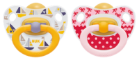 NUK **LATEX** Pacifiers - 2 pieces-