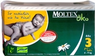 Natural 1.Moltex Eco Friendly nappies-Midi (4-9)kg 2x80 Box.