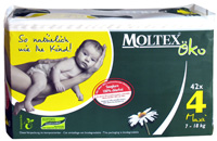 Nature 1. Moltex Eco Nappies - Maxi ( 7-18) kg 4x30 Box-