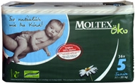 Moltex Eco Nappies - Junior (11-25)kg 2x68 Box.